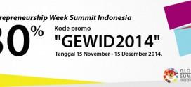 Global Entrepreneurship Week Summit Indonesia hadir bersama JakartaWebhosting.com