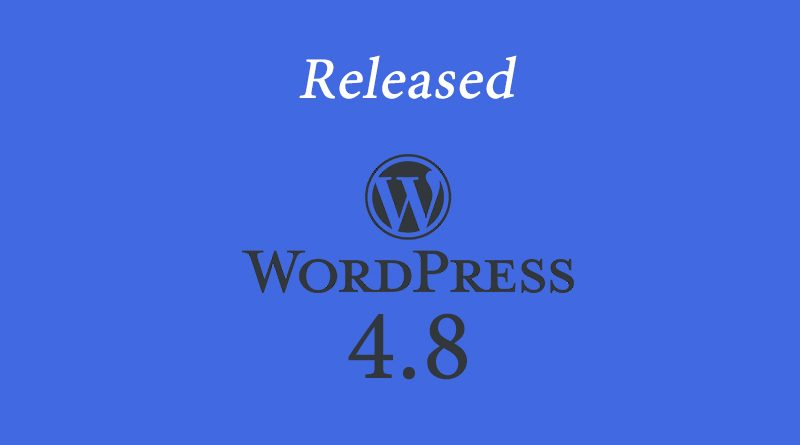 Update WordPress 4.8 Rilis