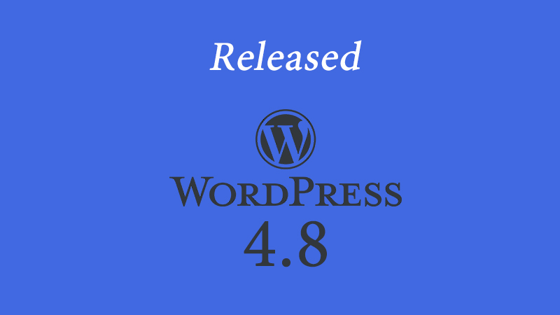 Update WordPress 4.8 Rilis